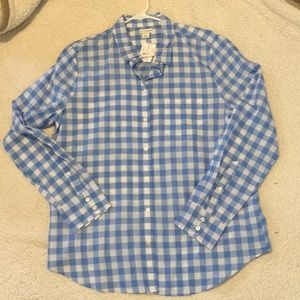 J. By j.crew blue Gingam button up 100% cotton!
